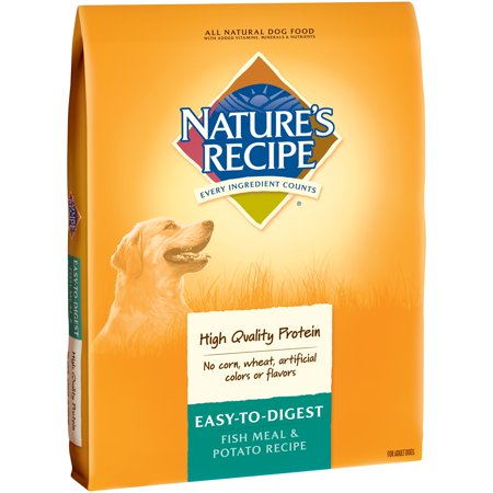 Natures Recipe Easy To Digest Fish Meal  Potato Recipe Dry Dog Food 30 Lb