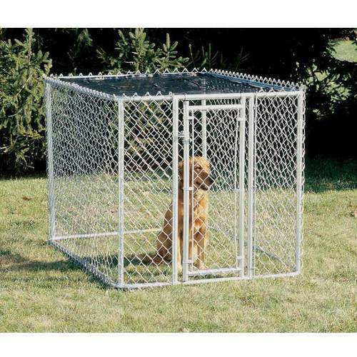 Midwest Chain Link Portable Kennel Includes a Sunscreen