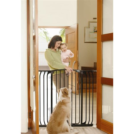 Extra Tall Hallway Security Gate in Black
