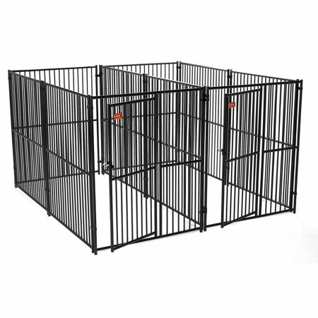 Lucky Dog European Style 5 x 10 2Run Kennel with Common Wall