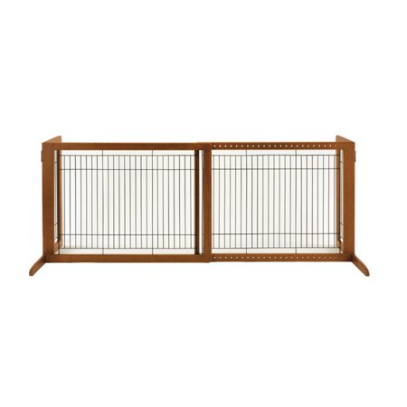 Richell Freestanding HL Pet Gate Brown