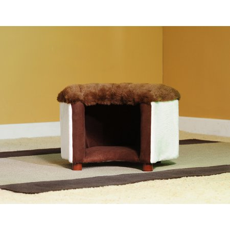 Keet Cat Silhouette Mink Faux Pet Bed