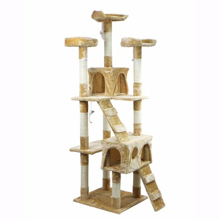 XtremepowerUS 67 Condo Cat Tree Scratching Posts Cat Hammock House