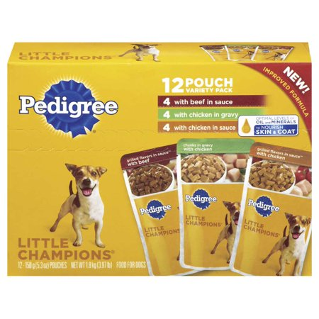 PEDIGREE LITTLE CHAMPIONS Grilled Flavors in Sauce Variety Pack Wet Dog Food 5.3 oz. Pack of 12