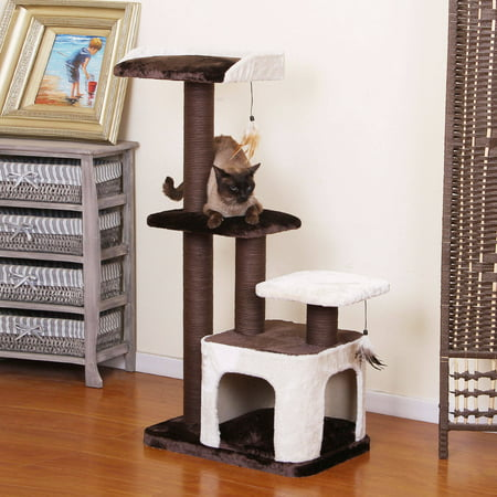 PetPals Group Creme Chocolate and Cream Color Cat Tree