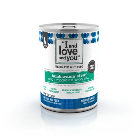 I and love and you Lambarama Stew Grain Free Canned Dog Food 13 oz 12 pack