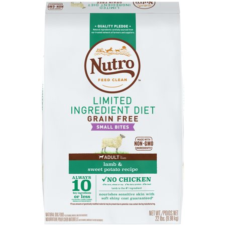 NUTRO Limited Ingredient Diet Small Bites Adult Lamb  Sweet Potato Recipe Dog Food 22 Pounds