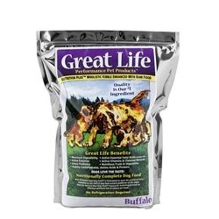 Great Life Grain Dry Dog Food Buffalo 33 Lb