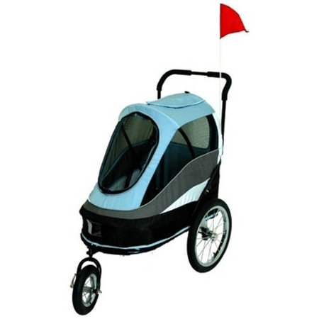 001285 Stroller Pet Happy Trailer Blue up to 75 lb