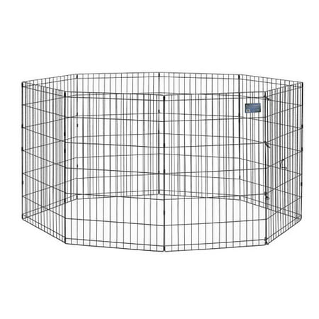 Midwest 36 Black Exercise Pen with Door