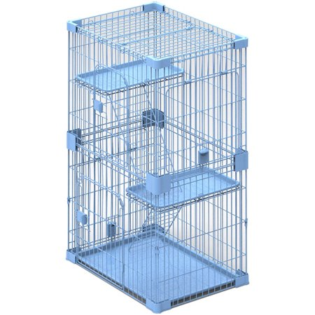 PetPals Wirehouse2Levels Sky Blue 2 Levels Cat Cage