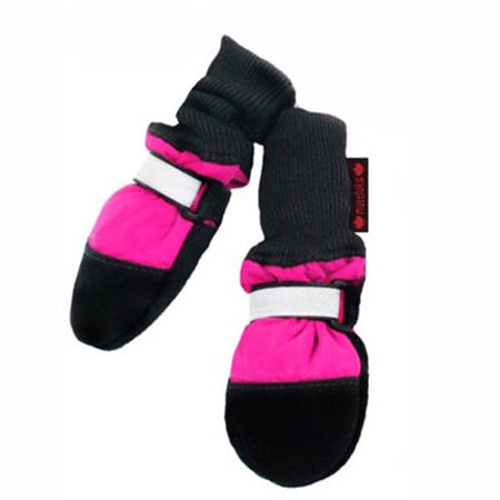 001333 Fleece Lined Muttluks Dog Boots Set of 4 Pink XS 2.25 to 2.75