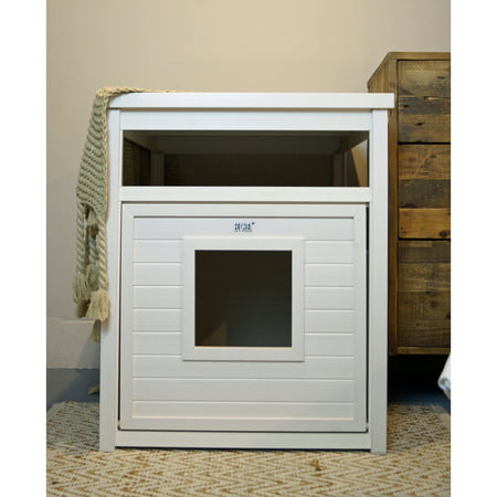 New Age Pet ecoFLEX Litter Loo Litter Box CoverEnd Table Antique White