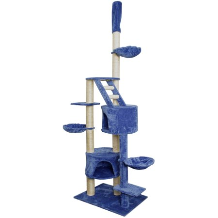 Premium Cat Tree Tower Condo Scratch Furniture 101 Blue and White