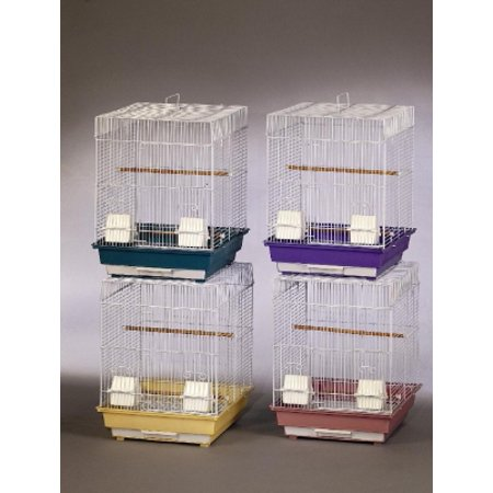 Prevue Pet Products ECONO1616 Powder Coated Steel Mesh Cockatiel Bird Cage 16 Inch Length x 16 Inch Width x 22 Inch Height Medium 4 Each