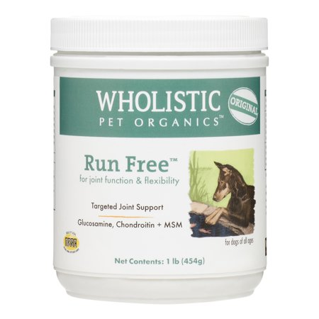 Wholistic Pet Organics Run Free Hip  Joint Dog Supplement 1 Lb