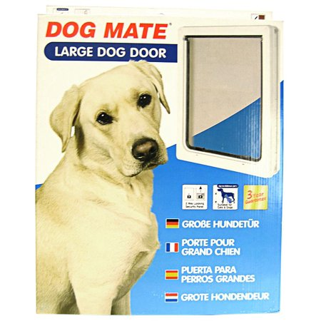 Dog Mate Multi Insulation Dog Doors  White Large Door  Dogs up to 25 Shoulder Height