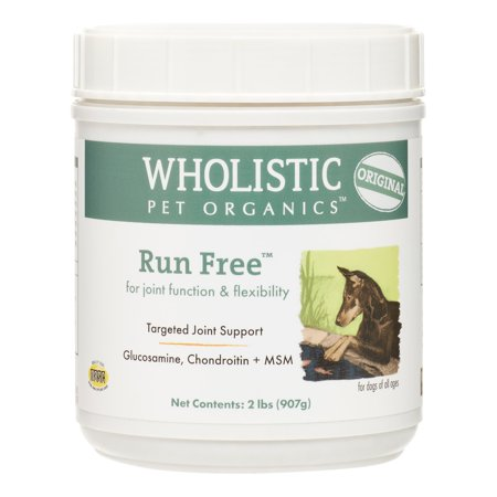 Wholistic Pet Organics Run Free Hip  Joint Dog Supplement 2 Lb