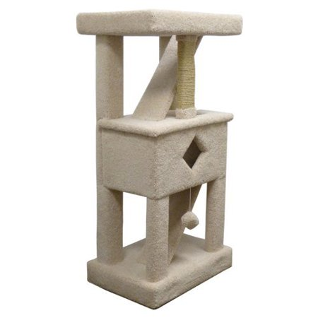 New Cat Condos Premier Solid Wood Cat Play Gym Beige