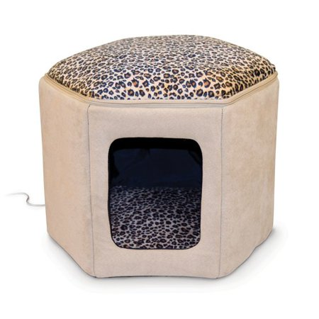 K Pet Products Kittty Sleephouse Cat Bed Beige