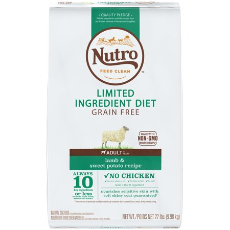 NUTRO Limited Ingredient Diet Adult Lamb  Sweet Potato Recipe Dog Food 22 Pounds