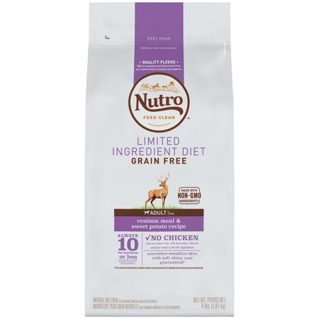 NUTRO Limited Ingredient Diet Adult Venison Meal  Sweet Potato Recipe Dog Food 4 Pounds