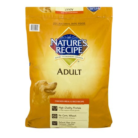 Natures Recipe Adult Dog Food Chicken Meal  Rice Recipe 15.0 LB