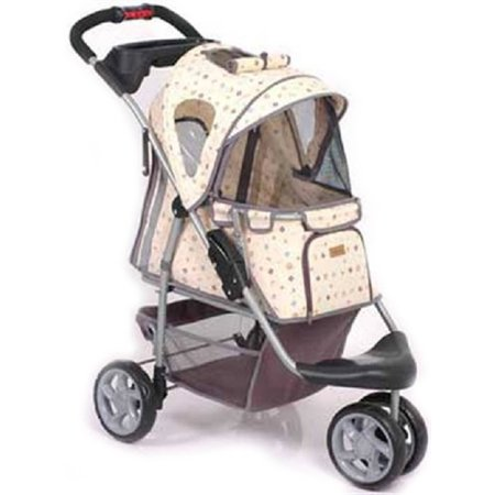 001186 PetZip Jogger 1st Class Luxury Pattern Tan up to 45 lb