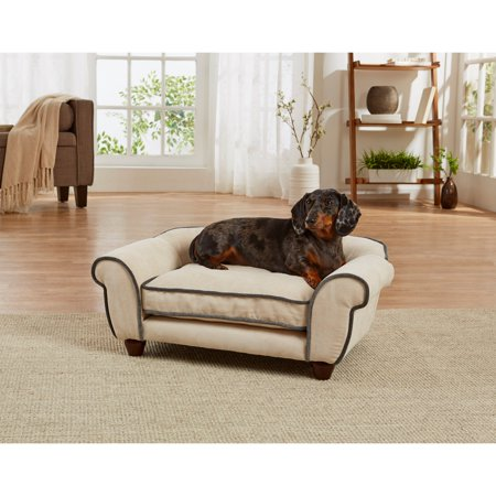 Enchanted Home Pet Lily Cleo Velvet Dog Sofa with Cushion