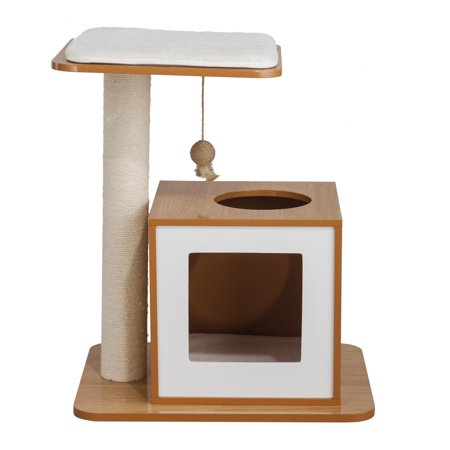 Elegant Home Fashions Cat Scratch Post House