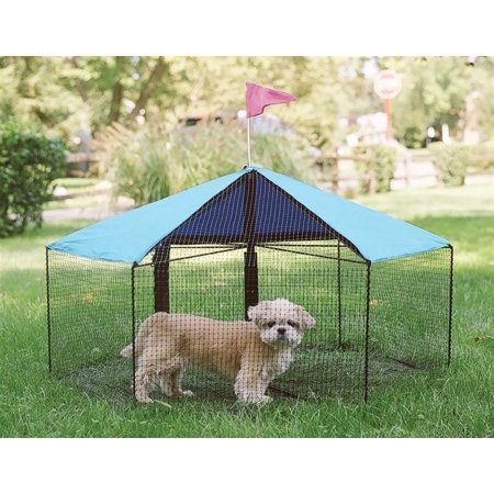 Kittywalk Carousel Outdoor Cat Enclosure Green 48 x 48 x 24