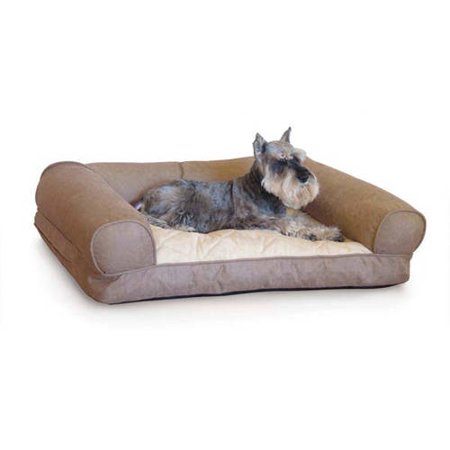 K Pet Products Lazy Sofa Sleeper Pet Bed Small Tan 25 x 19 x 8