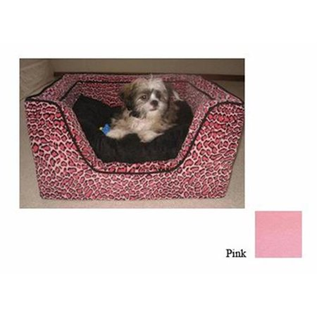 Luxury Square Pet Bed With Memory Foam  Extra LargeAll Pink