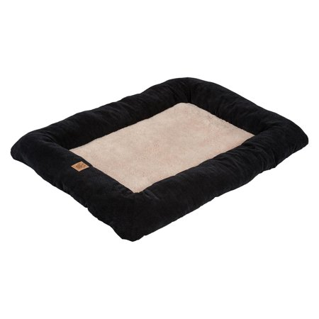 Precision Snoozzy Mod Chic Low Bumper Pet Bed Mat  Black  Extra Extra Large  51 x 33 in.