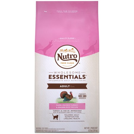 NUTRO WHOLESOME ESSENTIALS FarmRaised Turkey  Brown Rice Recipe Adult Dry Cat Food 6.5 Pounds