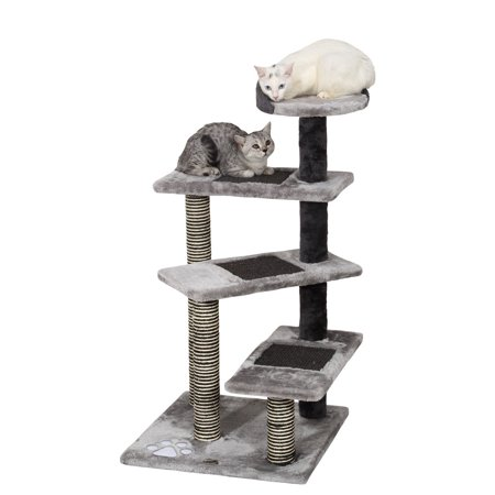 Ollieroo194reg High Quality 40 H MultiLevel Kitten Cat Tree Furniture Climber 5 Tiers Cat Tower Cat Scratching Pads Scratching Posts Use the Steps as a Ladder to Climb Rope Ladder Kitty Tree