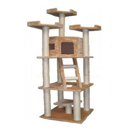Go Pet Club 78 in. Beige Catopia Cat Tree  F2029