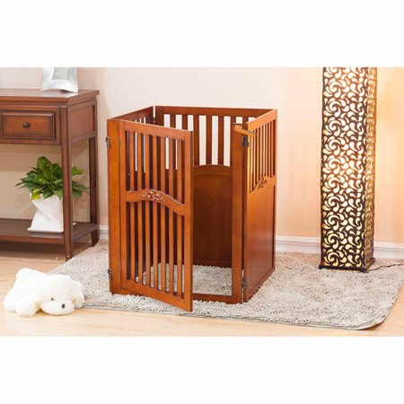 Bongo 4Panel Convertible Dog Gate with 1 WalkThrough Panel 32