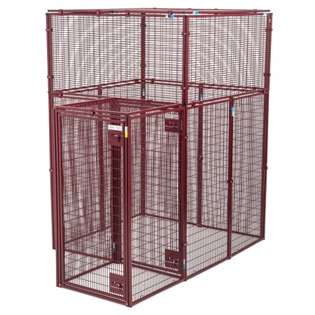 Animal House Ultra Heavy Duty 60L x 60W x 90H Flat Covered Pen with Double Door Security Entrance