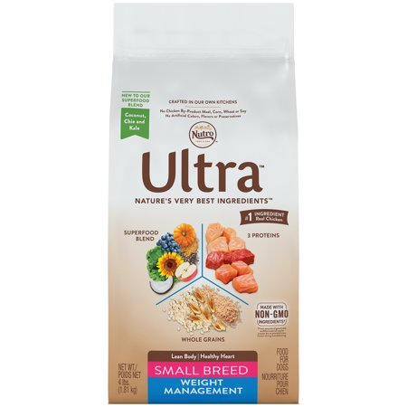 NUTRO ULTRA Small Breed Adult Weight Management Dry Dog Food 4 Pounds