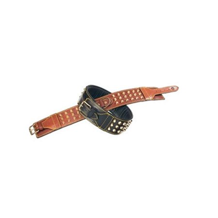 La Cinopelca R514 19. 7 inch Double Studded Collar with Studs Brown