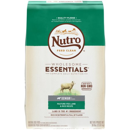NUTRO WHOLESOME ESSENTIALS PastureFed Lamb  Rice Recipe Senior Dry Dog Food 30 Pounds