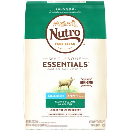 NUTRO WHOLESOME ESSENTIALS PastureFed Lamb  Rice Recipe Large Breed Puppy Dry Dog Food 30 Pounds