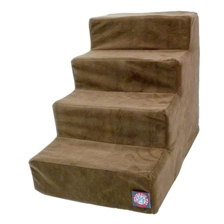 Majestic Pet Products 788995675105 4 Step Chocolate Suede Pet Stairs