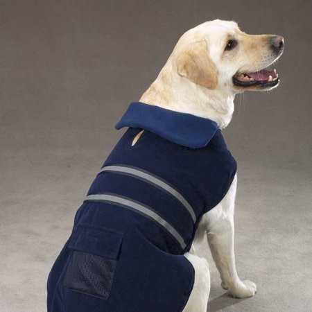 Casual Canine Reflective Jacket S Blu