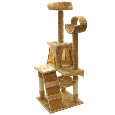 XtremepowerUS 52 Condo Cat Tree Scratching Posts Cat Hammock House