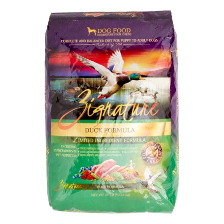 Zignature GrainFree Duck Formula Dry Dog Food 27 lb