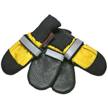 000114 All Weather Muttluks Leather Sole and Toe Dog Boots Set of 4 Yellow Itty Bitty up to 1.5