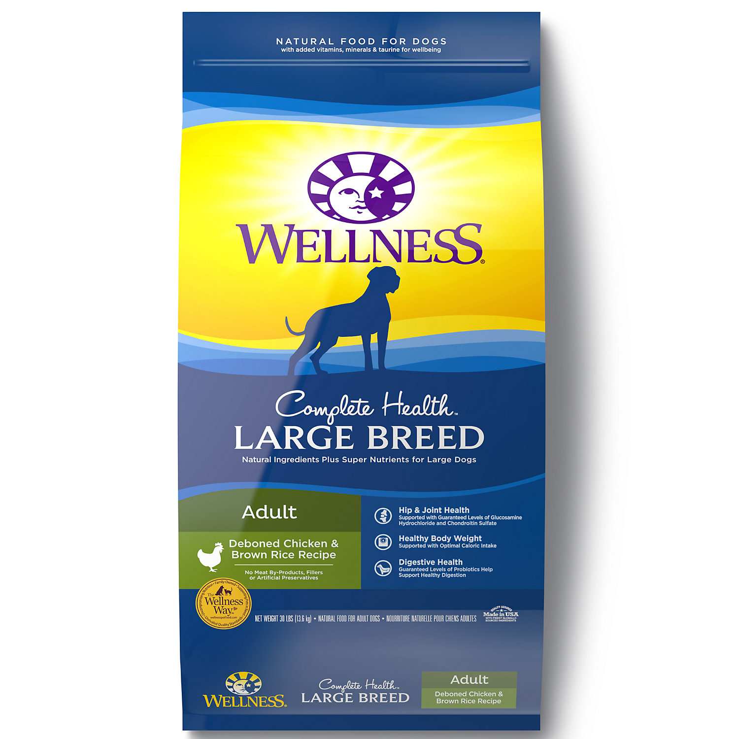 Wellness Complete Health Natural Large Breed Health Recipe Dry Dog Food 30 lbs.