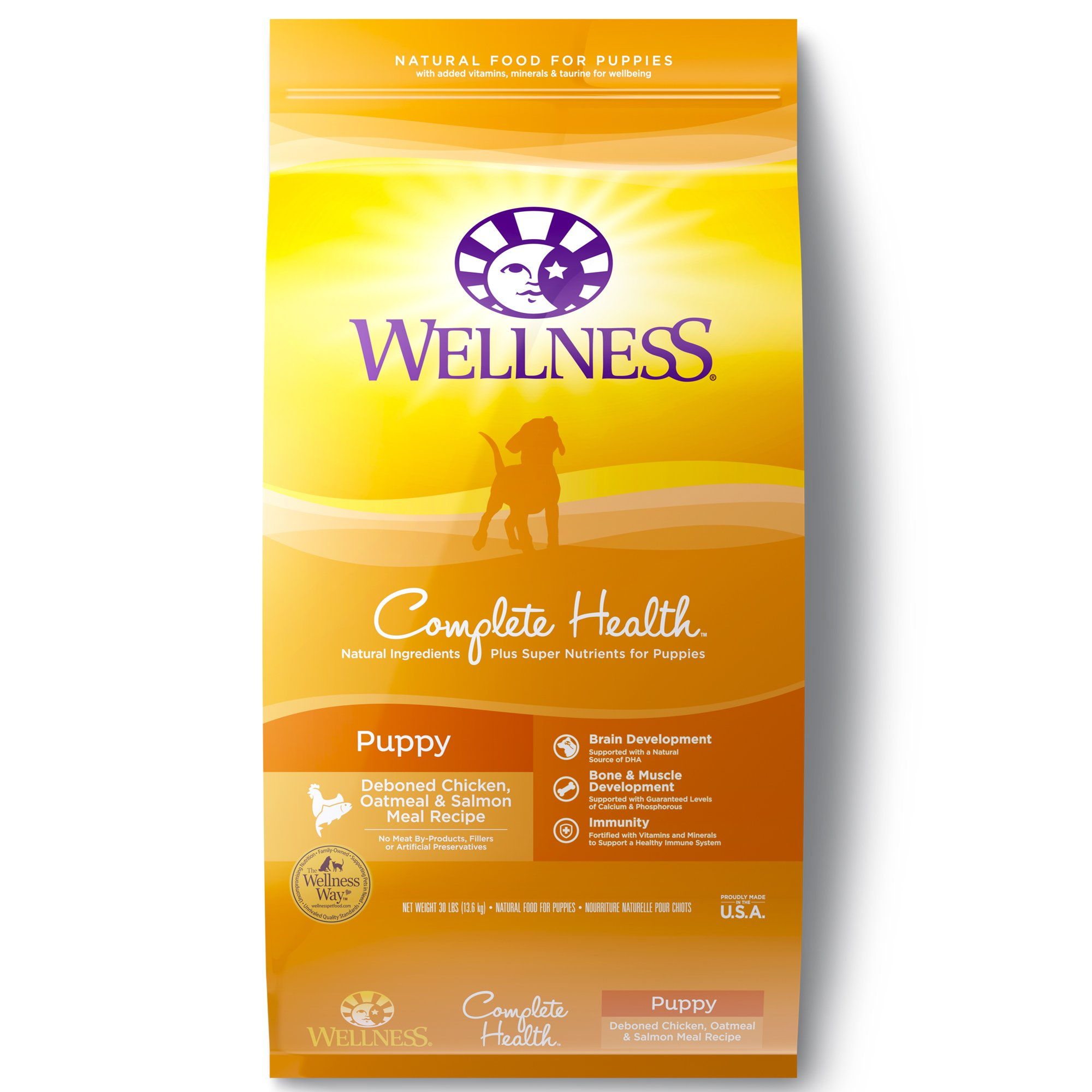 Wellness Complete Health Natural Puppy Health Recipe Dry Dog Food 30 lbs.